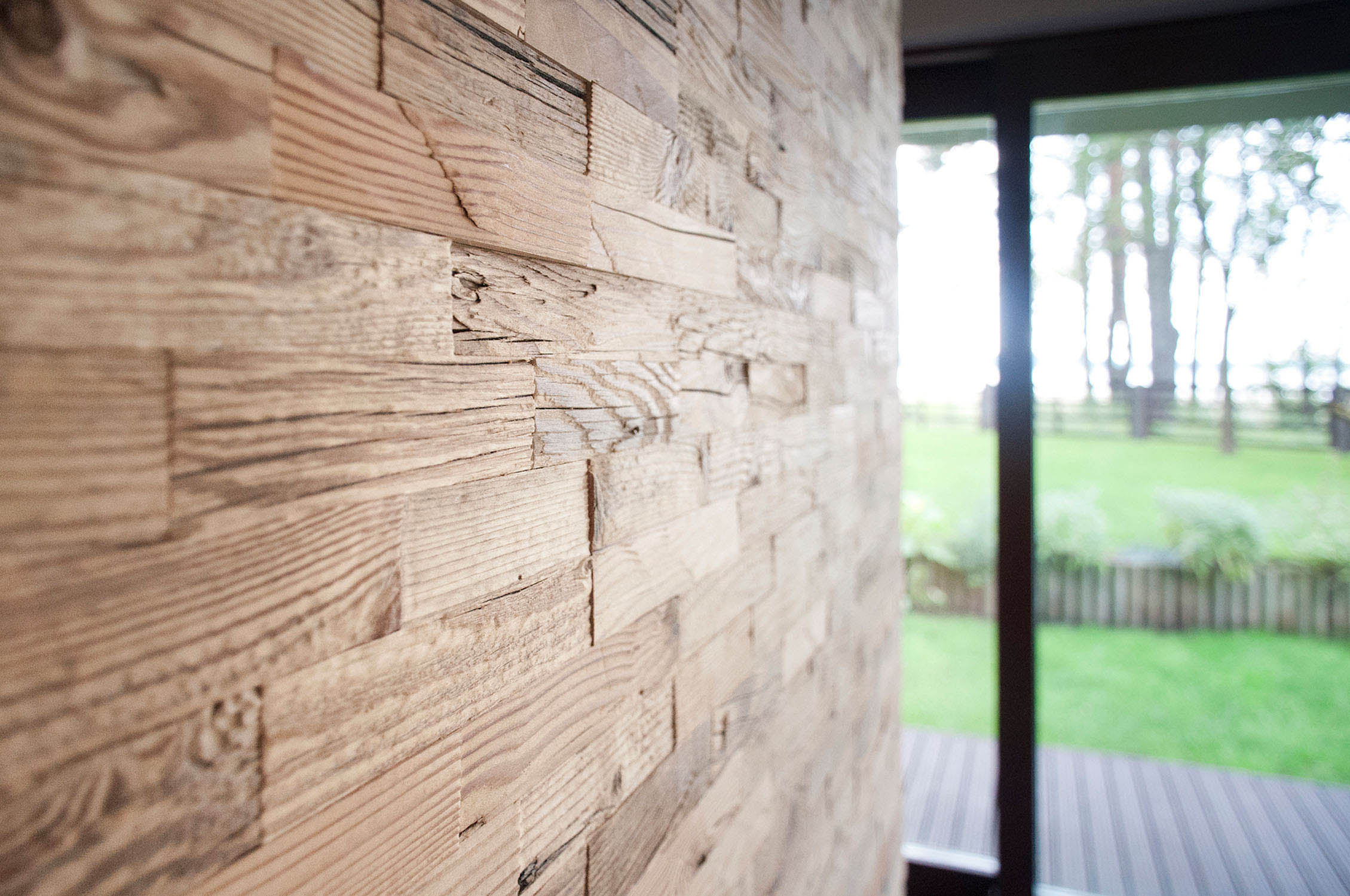 Weathered wood panels