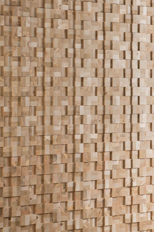 Natural wood cladding