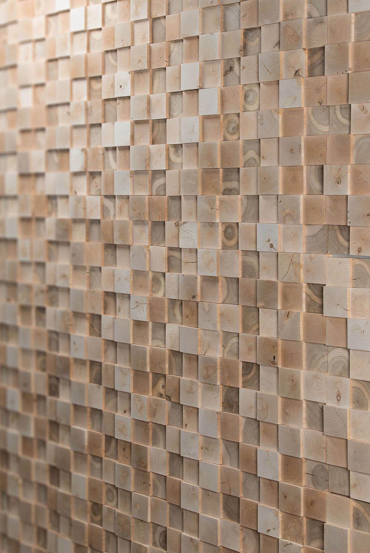 3D quadratische Naturholzplatte für Wände