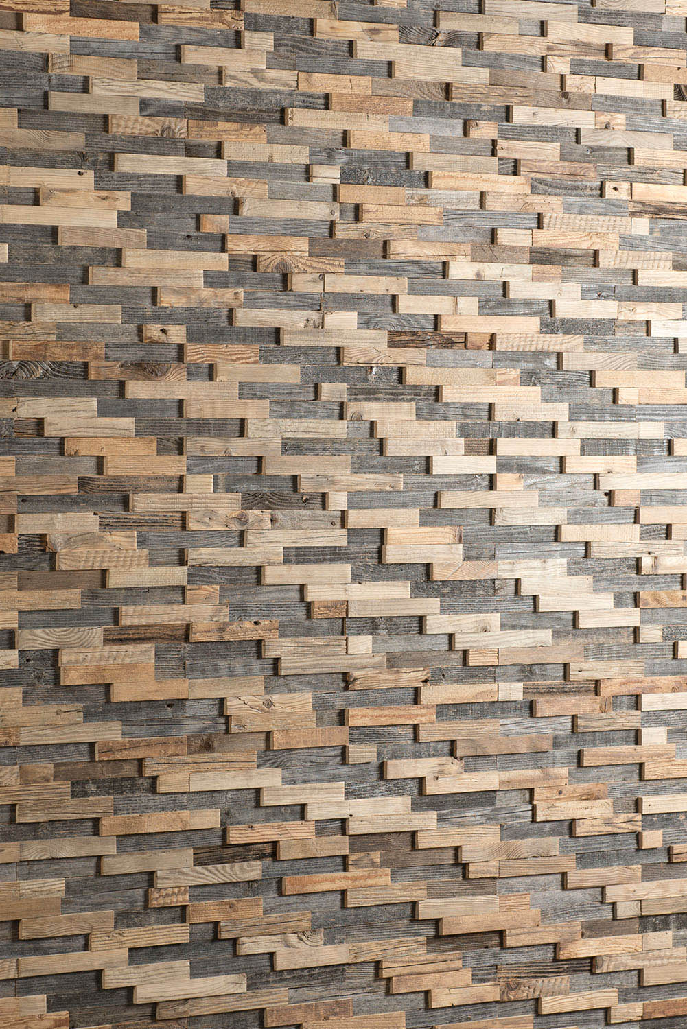 3D wall panel made from wood
