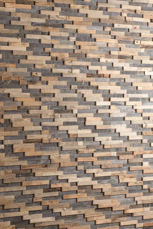 3D-Wandplatte aus Holz