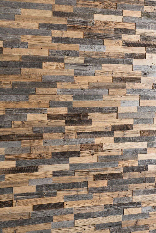 Wandverkleidung aus wiedergewonnenem Holz
