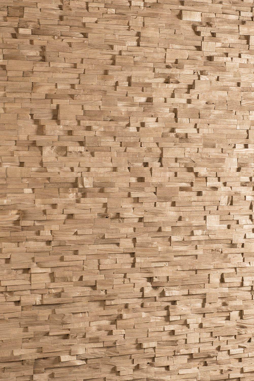 Splitted oak wall panel