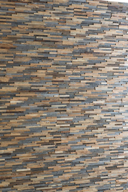 Wandpaneele aus wiedergewonnenem Holz