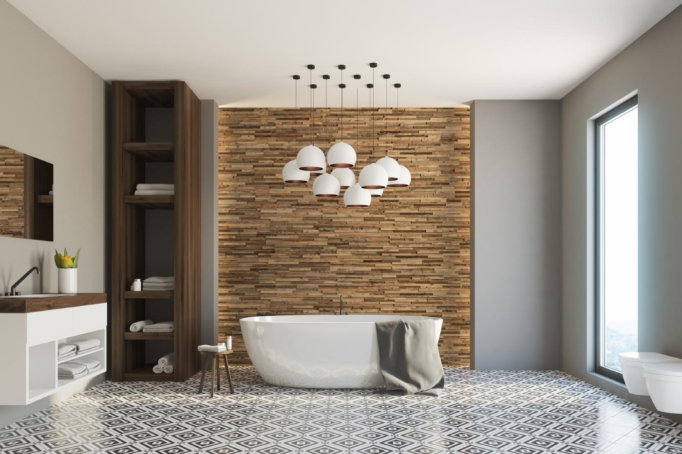 Decorative wall panel made from natural wood