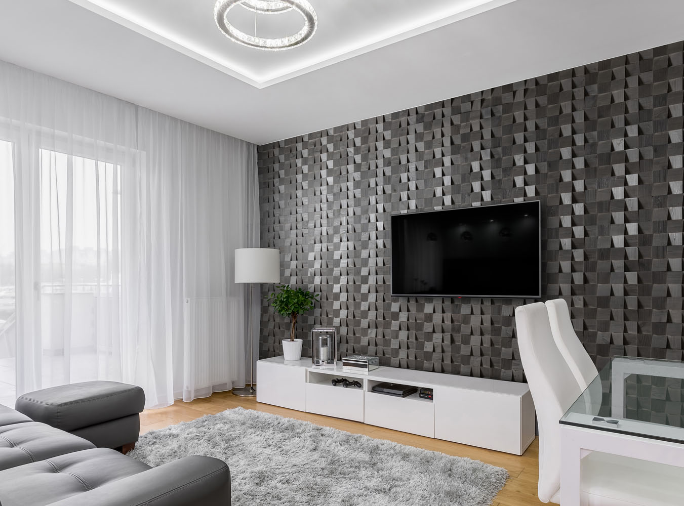 Grey wall panels