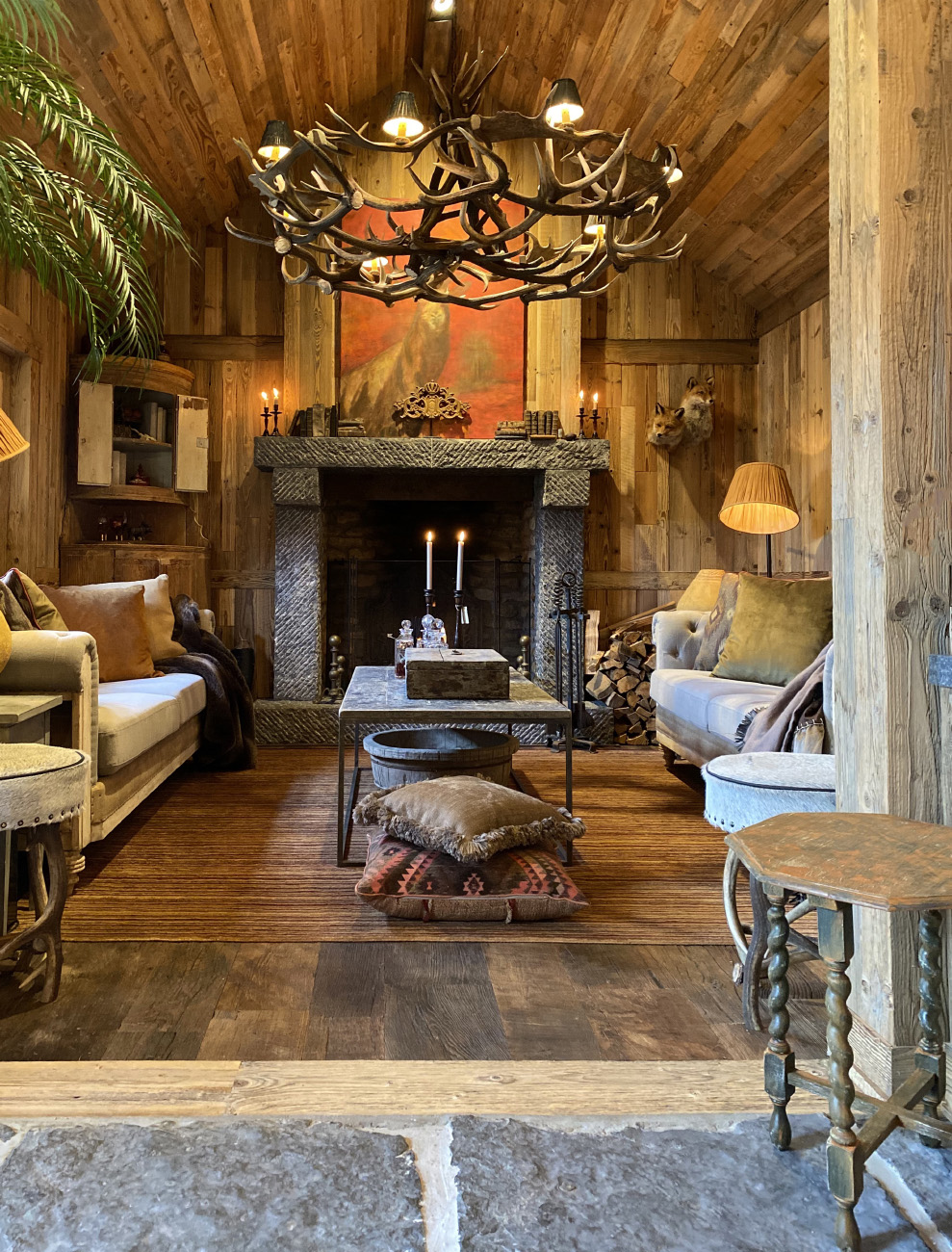 Guest house interior rustic