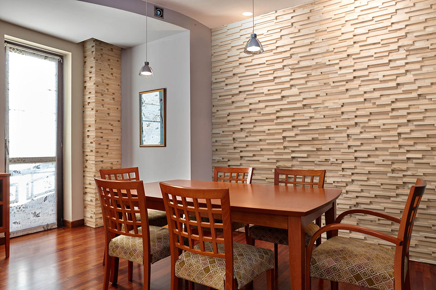 Natural wood panels for interior use