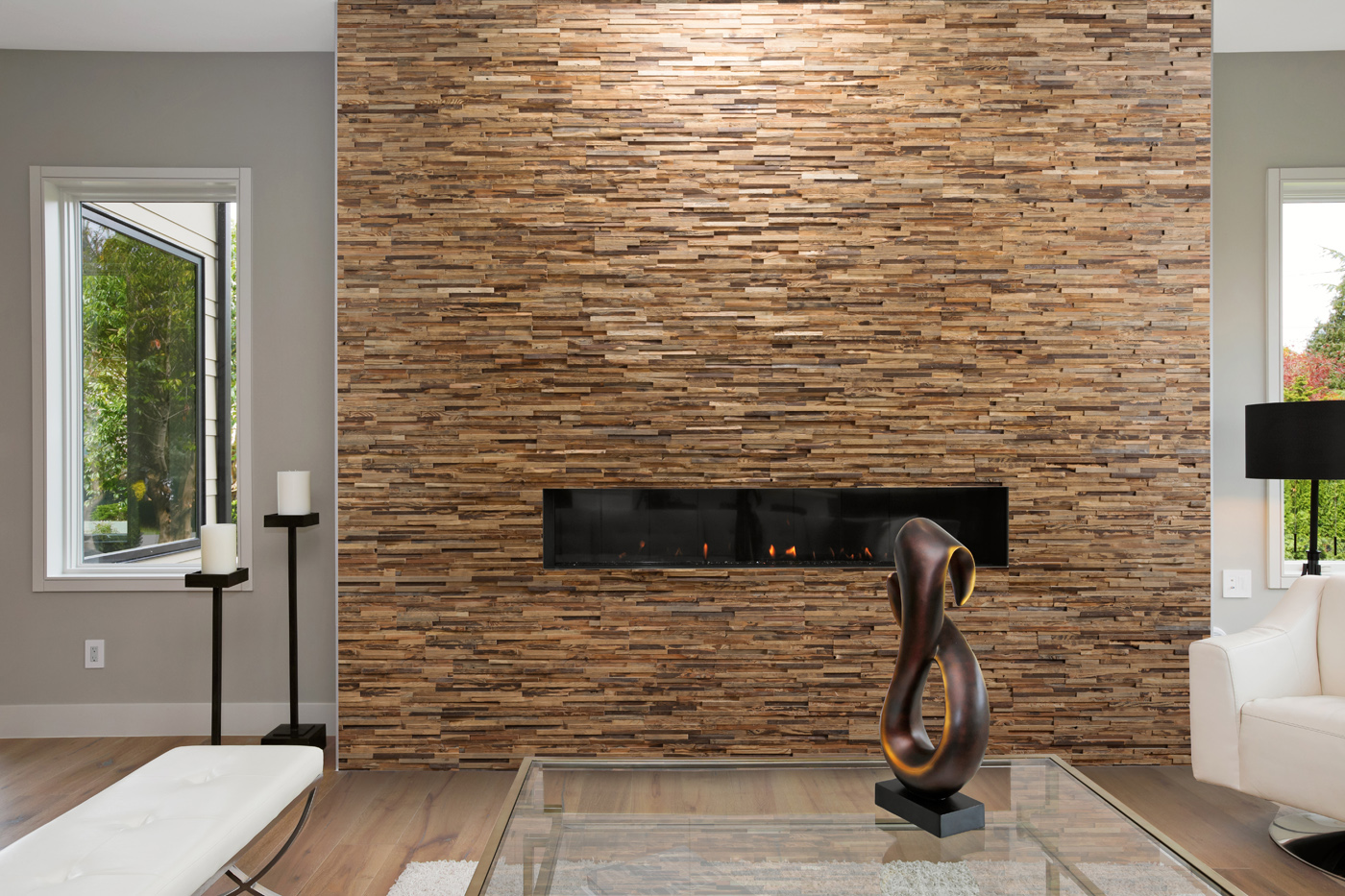 Wall panel Incognito in living room interior