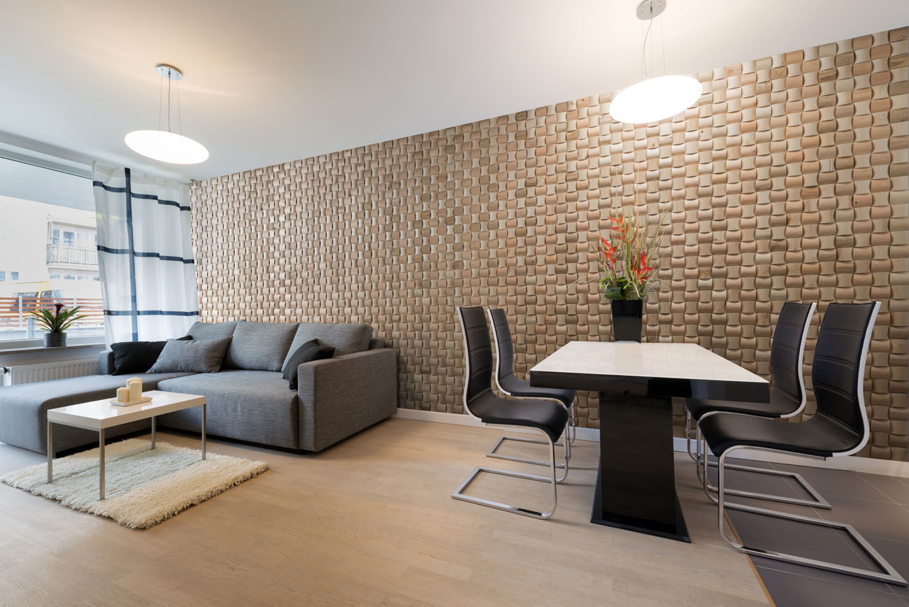 calming interior feeling with wall panels