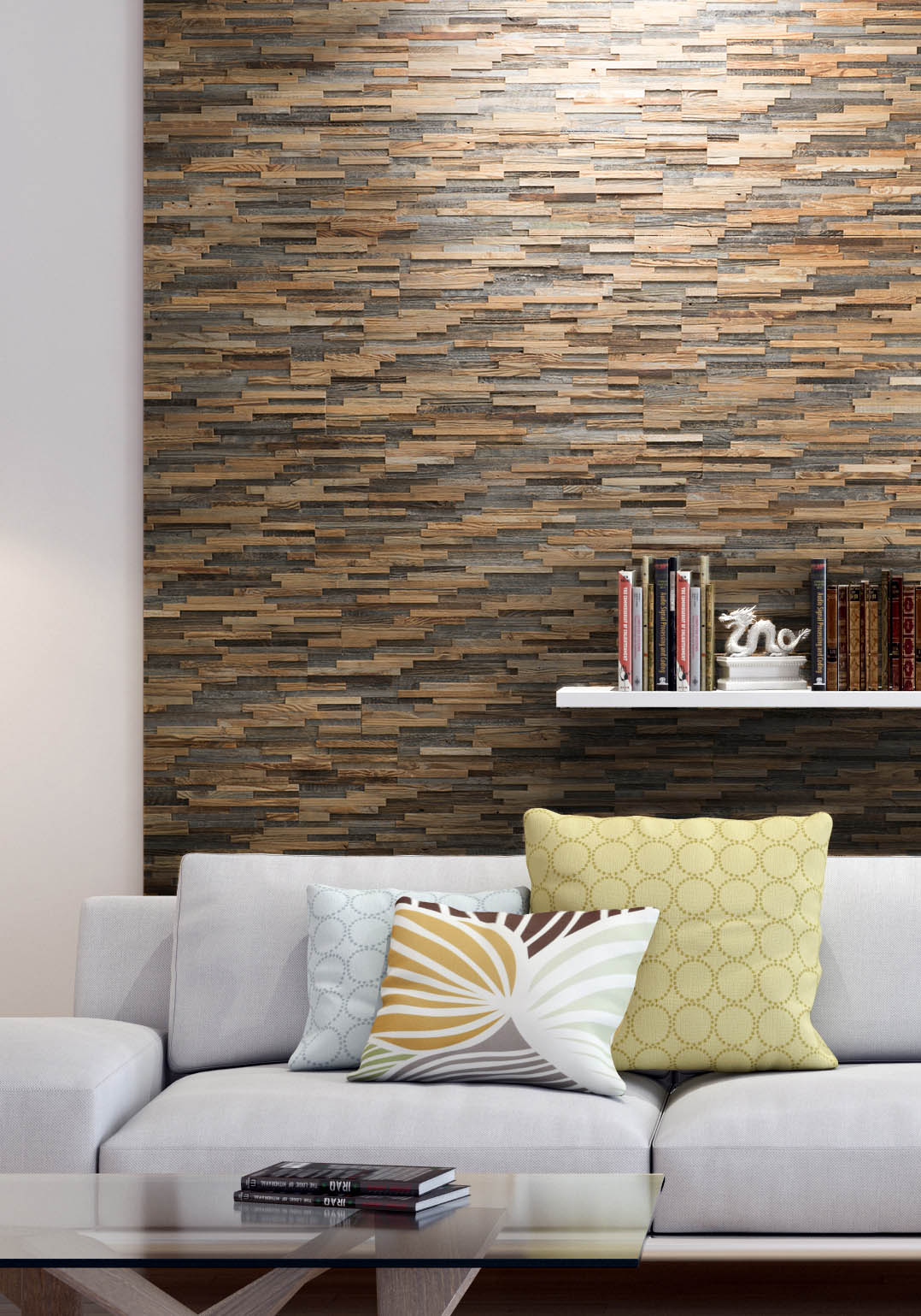 Reclaimed wood wall panels