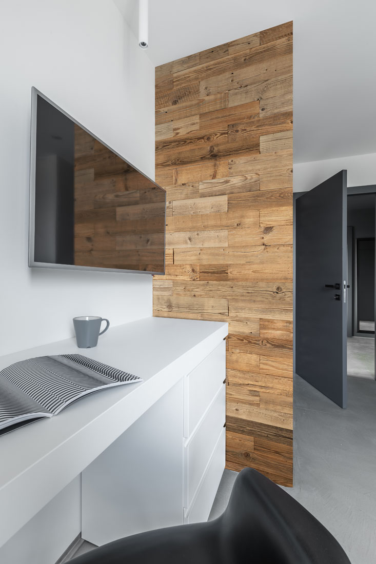 wall panels in bedroom corner
