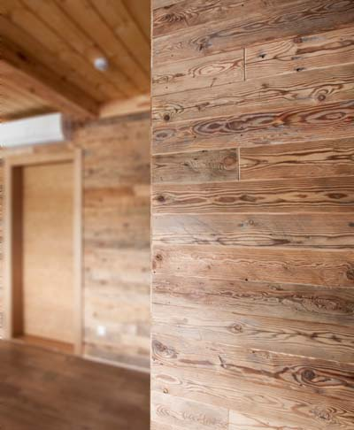 Hand hewn boards in SPA