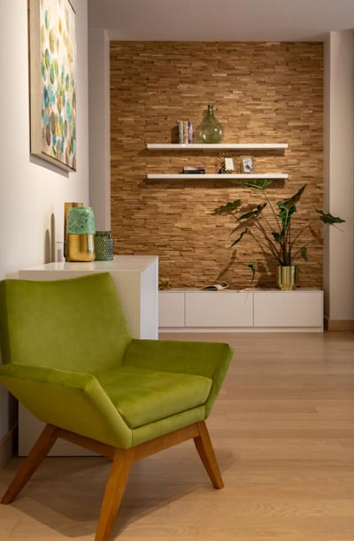 Wall panels from natural wood