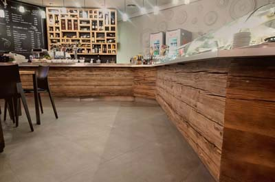 reclaimed wood bar counter