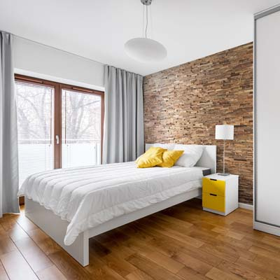 rustic wall panel in modern interior white