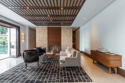 wall panels in sitting room